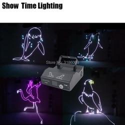 Delfin strusia Eagle tunel czasu 3D Cartoon efekt Disco laserowego dobre wykorzystanie do strona główna KTV klub nocny wina Bar pokaz laserowy w Oświetlenie sceniczne od Lampy i oświetlenie na