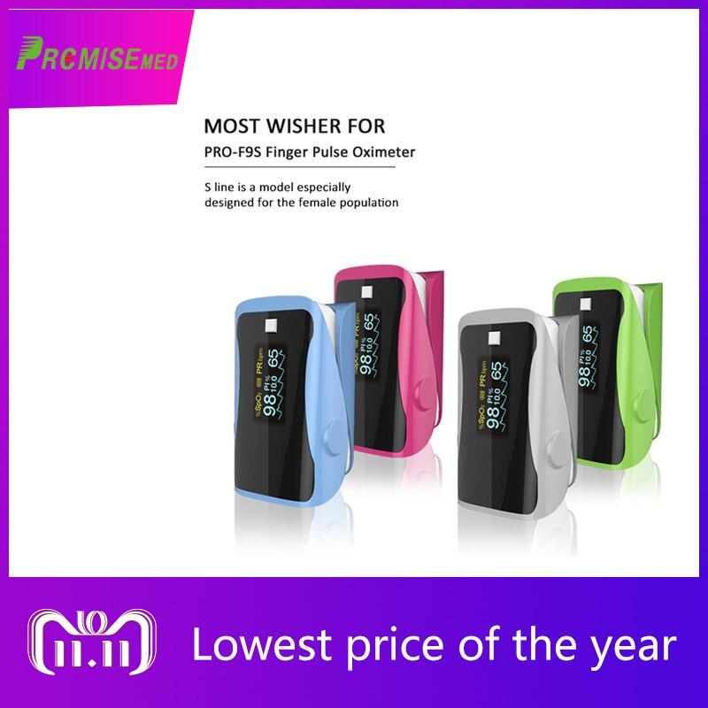 PRO-F9S Home Health Monitor Pulse Oximeter Finger Oxygen Fingertip SPO2 Multiple Colors