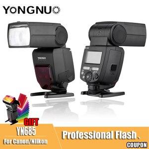 Image 1 - YONGNUO YN685 YN 685 C N YN685C Flash Speedlite Wireless 2.4G HSS TTL iTTL for Canon Nikon D750 D810 D7200 D610 D7000 Camera
