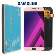 Оригинальный дисплей для Samsung Galaxy A5 2017, Super AMOLED ЖК дисплей 5,2 дюйма, сенсорный экран с цифровым преобразователем, запасные детали для A520, A520F, SM A520F