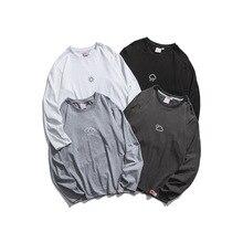 купить 2019 Spring And Autumn Men's New Casual Pattern Printing Round Neck Long-sleeved T-shirt Loose Temperament Trend Cotton по цене 830.42 рублей