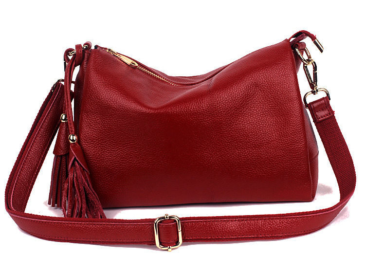 couro real elegante borla genuíno bolsas novo g06