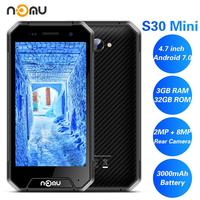 NOMU S30 Mini SmartPhone 3GB RAM 32GB ROM 4.7 IP68 Waterproof 4G LTE MTK6737VWT Quad Core Android 7.0 8.0MP 3000MAH Cell Phone