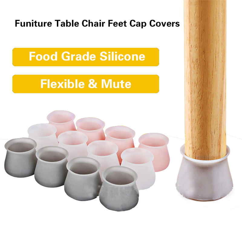 4/8/16pcs Table Chair Legs Silicone Caps Funiture Feets Protector Covers Non-slip Table Leg Caps Foot Protection Bottom Covers
