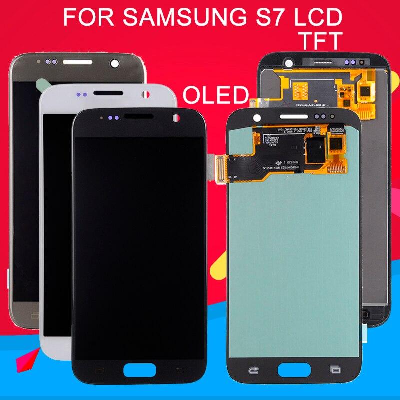 Dinamico S7 LCD pour Samsung Galaxy S7 affichage G930F G930L G930S G930 Lcd écran tactile numériseur assemblée remplacement livraison gratuite