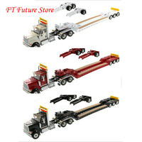 In Stcok Collectible 1/50 Scale International HX520 Day Cab Tandem Tractor With XL 120 Lowboy Trailer Model for Fans Boys Gifts