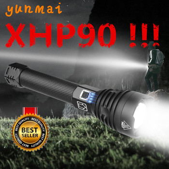 Super Powerful Xlamp XHP70.2 XHP90 LED Flashlight LED Torch USB XHP50 Lamp Zoom Tactical Torch 18650 26650 Rechargeable Battey super bright led flashlight xhp50 2 powerful linterna usb zoom led torch xhp50 18650 rechargeable battery