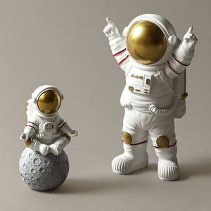 Image 4 - Modern Astronaut Sculpture Resin Figure Statuetes Spaceman Abstract Statue Home Decoration Accessories Craft figurine Decor
