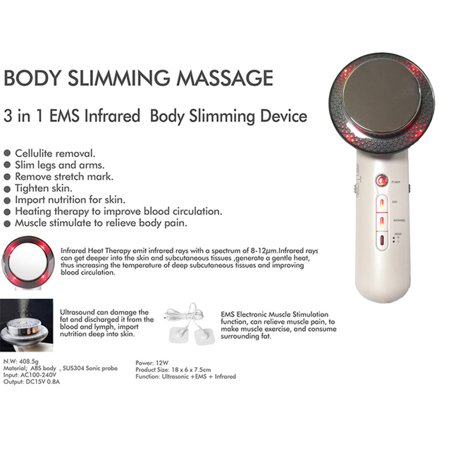 Body Massager Slimming Gel RF Infrared Ultrasound EMS Cavitation Machine Fat Burner Breast Lift Beauty Bar Weight Loss 1