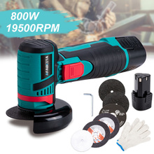 Angle-Grinder Wood Grinding-Cutting Lithium-Battery Cordless Metal Mini 12V 800W