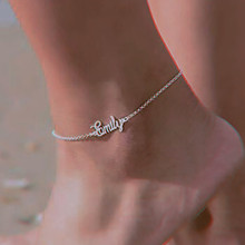 Bracelet Anklet Custom Stainless-Steel Butterfly Personalized Beach-Jewelry Name Leg-Chain