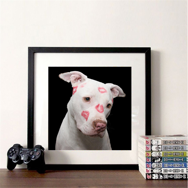 Huacan 5d DIY Diamond Painting Full Square round Dog Diamond Embroidery Mosaic Animal Handmade Gift Home