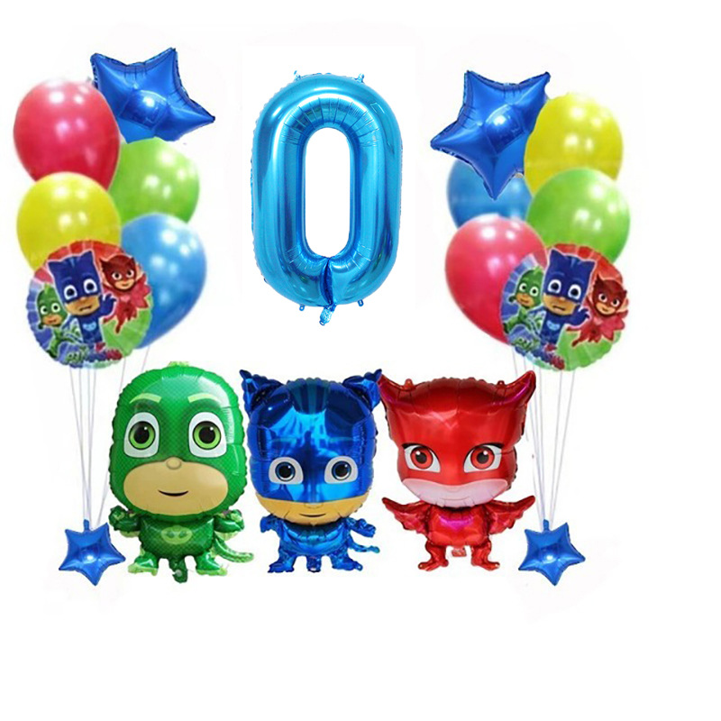 New Pj Masks Birthday Party Room Decoration Juguete Pj Mask Toy Cartoon Anime Figures Balloons Kids Toys For Children Boy