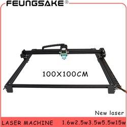 100*100 centimetri grande area incisore 15w macchina laser PMW REGOLATORE di controllo TT laser intaglio macchina Laser 5500 mw, 1600mw Laser Macchina Per Incidere