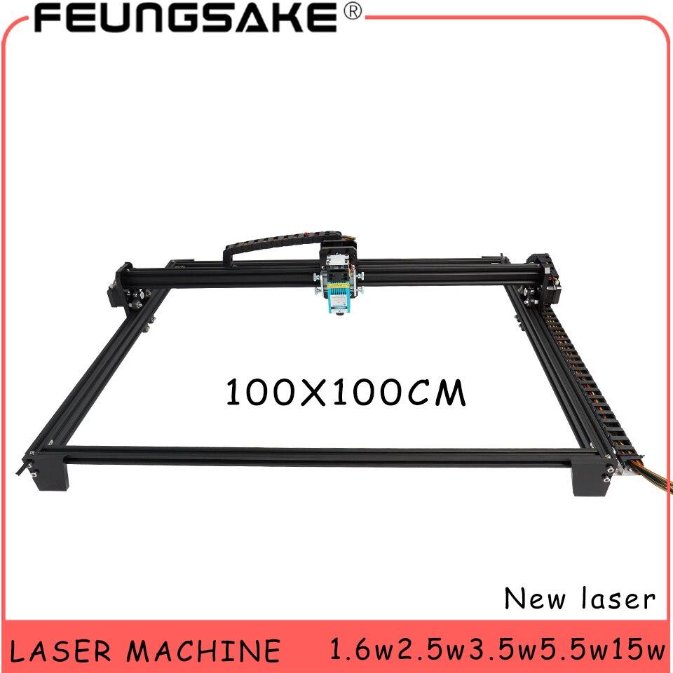 100*100cm 큰 영역 조각사 15w 레이저 기계 pmw 제어 tt 레이저 조각 기계 5500mw 레이저, 1600mw 레이저 조각 기계