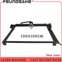 100*100cm big area engraver 15w laser machine PMW control TT laser carving machine 5500mw Laser,1600mw Laser Engraving Machine