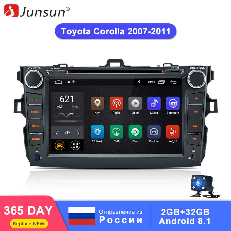 Junsun 2+32GB Android 8.1 2 Din Car Multimedia Player For Toyota Corolla 2007 2008 2009 2010 2011 DVD Radio Gps Naviagtion WIFI