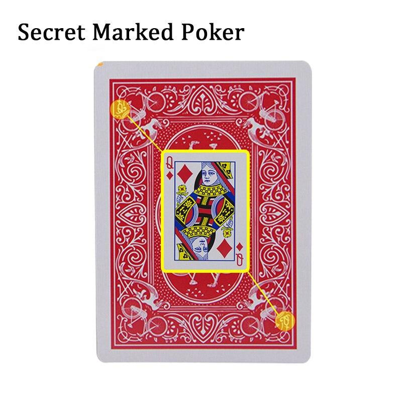 2020 novo segredo marcado cartões de poker ver através de jogar cartas brinquedos simples mas inesperados truques stripper baralho poker