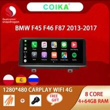 8 çekirdekli 4 + 64G IPS dokunmatik ekran Stereo araba multimedya BMW F45 F46 F87 2013 2017 GPS radyo Google WIFI 4G Android 10.0 sistemi