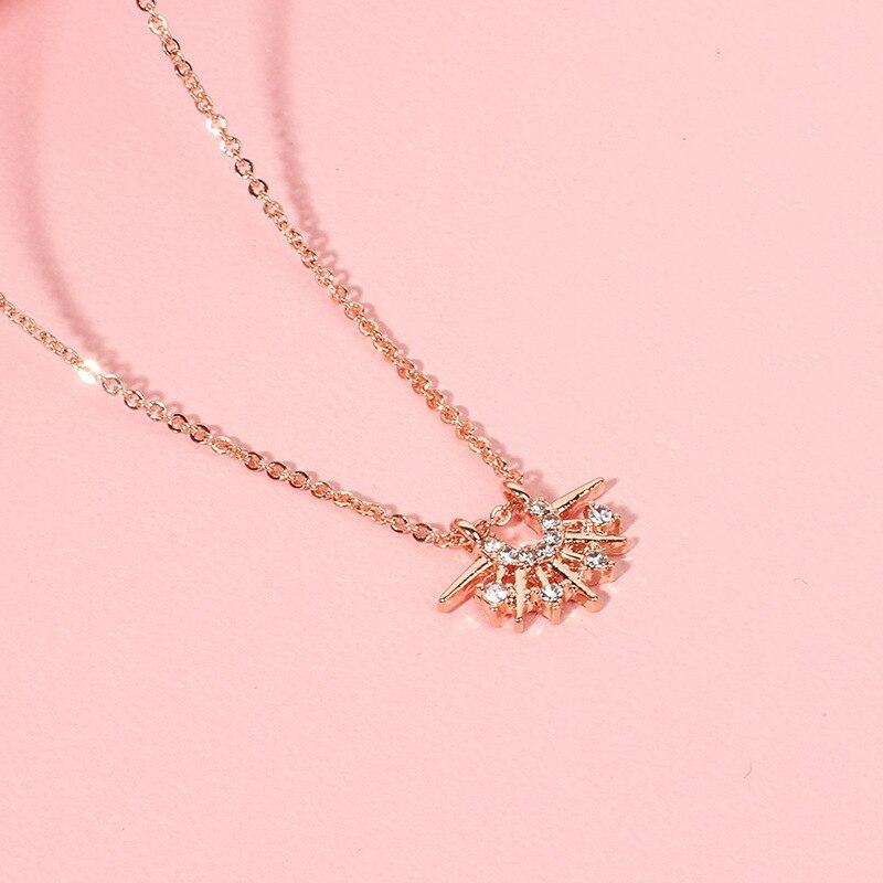 Колье золотого цвета Цепочки и ожерелья для женщин, 5 видов милые юбки-пачки со звездочками лист Подвеска, цепочка, ожерелье и подвески бархатные Чокеры Модные украшения