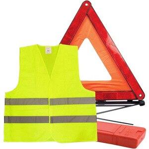 Image 1 - Araba acil üçgen reflektör yansıtıcı ceket arıza uyarısı güvenlik otomatik katlanmış dur işareti yol reflektör araba aksesuarları