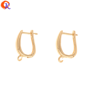Image 1 - Cordial Design 50Pcs 12*18MM Jewelry Accessories/DIY Making/Earrings Hooks/Genuine Gold Plating/Hand Made/Earring Findings