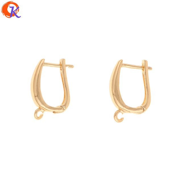 Cordial Design 50Pcs 12*18MM Jewelry Accessories/DIY Making/Earrings Hooks/Genuine Gold Plating/Hand Made/Earring Findings