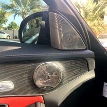 2pc stainless steel Car Door A-pillar tweeter Audio Speaker Decorative Cover Trim 3D sticker For Mercedes Benz New C Class C200L