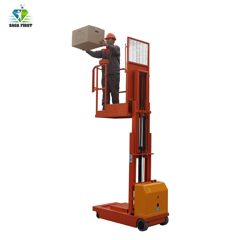 Compact Size Hydraulic Self Propelled Order Picker Truck