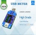 USB 2.0 Typ C Farbe LCD Voltmeter Amperemeter Spannung Strom Meter Batterie Ladung Messen Kabel Widerstand Tester auf