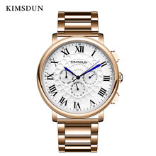 цена Top Luxury Relogio Masculino Watch MEN Business multi-function three-eye mechanical watch steel belt casual brand men watches онлайн в 2017 году