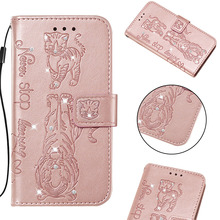 Fashion Glitter Diamond Filp Wallet Phone Case For Samsung Galaxy S9 S10 Plus S10e Cases For Samsung M20 M10 M30 M40 Cover Coque filp case for samsung galaxy s9 cat and bees pattern wallet stand cover