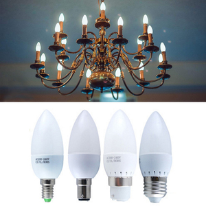 E27 E14 B15 B22 LED Candle Bulb 5W 3W for Candelabra Base Non-dimmable LED Light Chandelier Bulbs