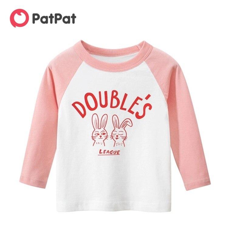 PatPat/Новинка 2020 года; Сезон осень весна; Повседневная футболка с длинными рукавами и милым принтом в виде букв для малышей; Топы для мальчиков; Детская одежда|Тройники| | АлиЭкспресс