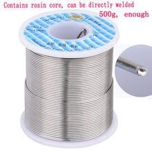 500g/rolo de solda manual bga reparação toolsrosin núcleo fio de solda estanho 0.6/0.8/1mm baixo ponto de fusão contém fluxo