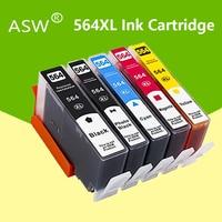 Cartucho de Tinta para hp 564xl 564 564XL ASW compatível para hp photosmart B8550 C6324 C310A C410 6510 D5460 7510 B209A 4610 3070A