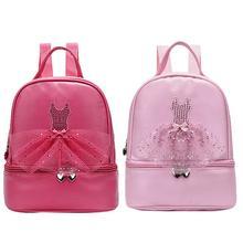 Child Dance Bag Female Embroidered Ballet Dance Bag Girl Kids Children Book Bag Pink Dance Backpack Ballerina