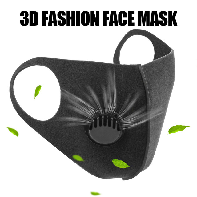 LEEPEE Filter Anti Pollution PM2.5 Mouth Face Mask Washable Reusable for Adult Black Anti Carbon Masks Sponge Mouth Mask 1