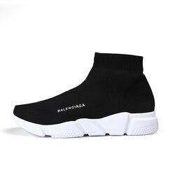 Sapatos de alta qualidade mulher sapatos vulcanizados unissex marca designer deslizamento na meia respirável sapatos casuais tênis feminino chaussures femme