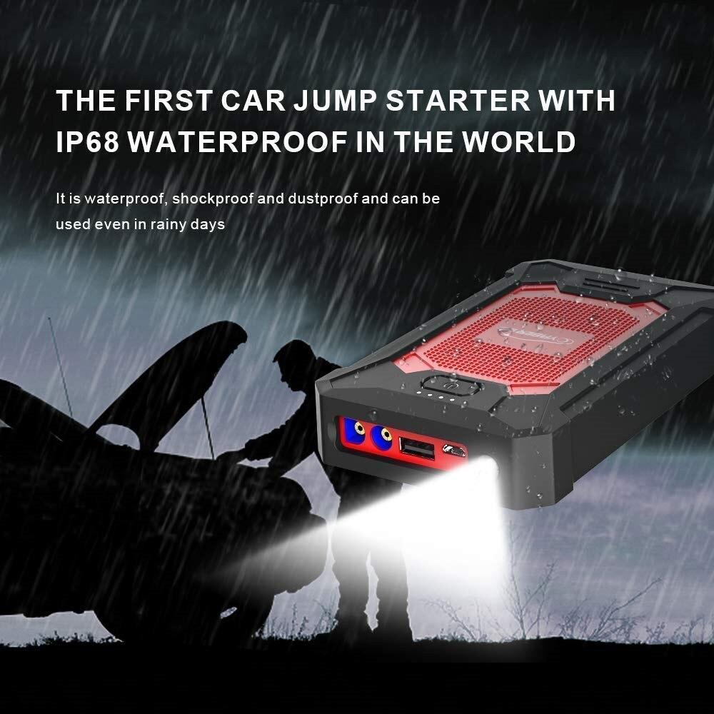 Yaber автомобильный стартер 12000 мАч пик 600А портативный аварийный стартер авто автомобильный аккумулятор бустер мини внешний аккумулятор для ...