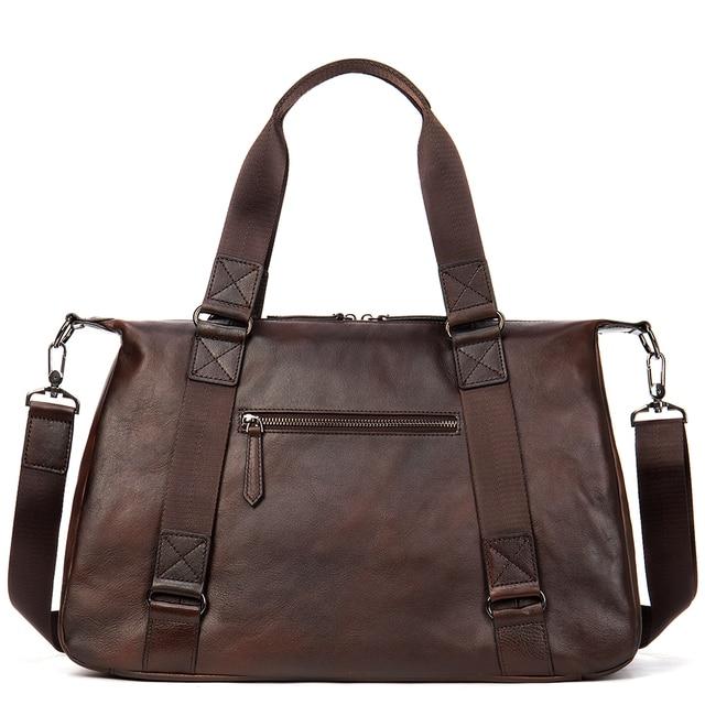 "MVA Genuine Leather Men Duffle Bag Luggage Travel Bag Men Vintage Large Capacity Messenger Weekender Bags For 15.6"" Laptop  1149 3"