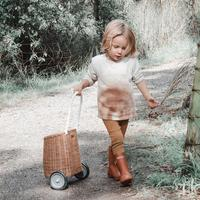 Handmade with Love Child's Luggy Basket Small Baby Trolley Children's Shopping Trolley