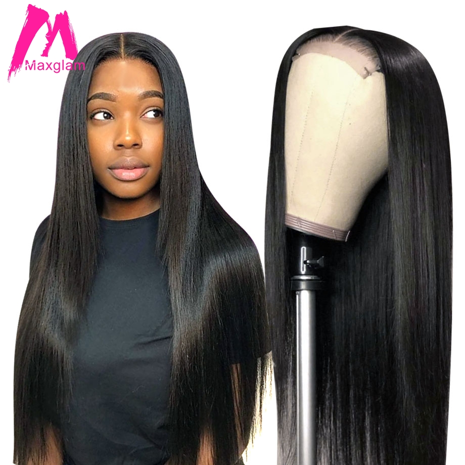 Lace Closure Wig Straight Brazilian 4x4 Bob Lace Front Human Hair Wigs Short For Black Women 28 30 Inch Long Hd Frontal Virgin