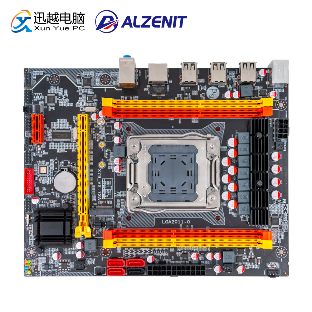 ALZENIT X79M-CE3 Motherboard For Intel X79 LGA 2011 Xeon E5 Support ECC REG DDR3 128GB M.2 NVME USB2.0 M-ATX Server Mainboard