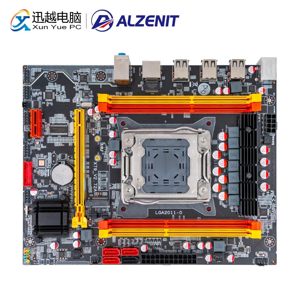 ALZENIT X79M-CE3 Motherboard For Intel X79 LGA 2011 Xeon E5 Support ECC REG DDR3 128GB M.2 NVME USB2.0 M-ATX Server Mainboard