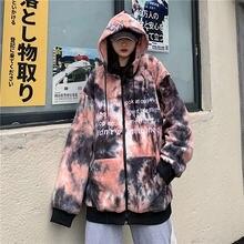 Осенне зимняя Свободная куртка в Корейском стиле с бархатной