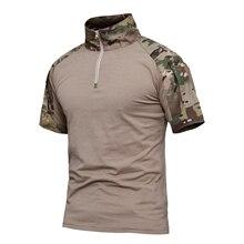 Охотничья Базовая Мужская армейская зеленая летняя тактическая футболка Военная армейская походная охотничья рыболовная боевая рубашка Топ