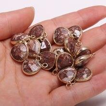 2 шт ожерелье кулон в форме капли медицинский камень для изготовления