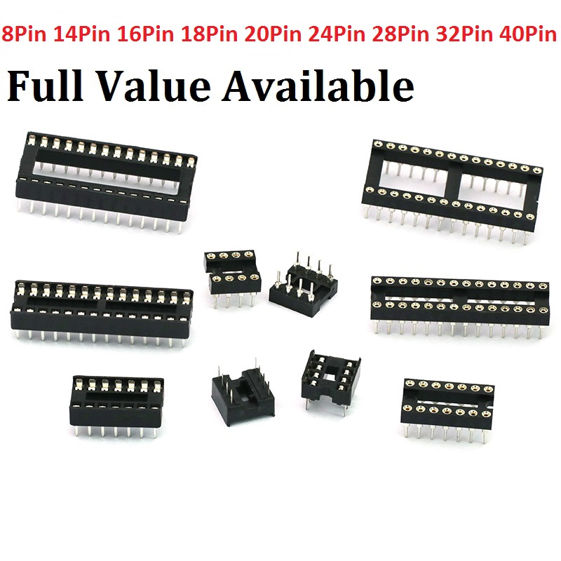 10pcs Round Hole 8pin Pitch 2.54mm DIP IC Sockets Adaptor