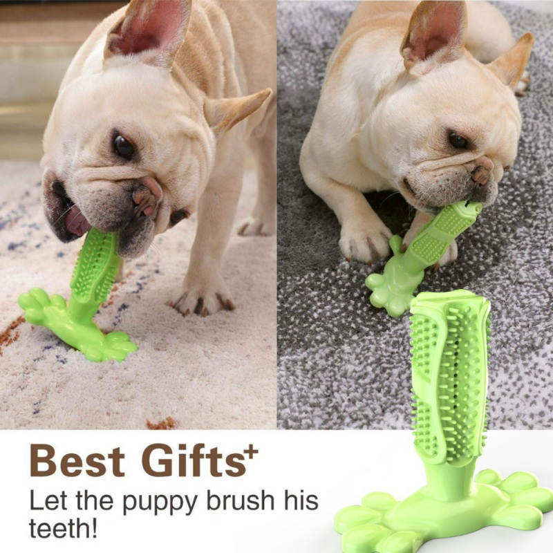 Puppy Toothpaste Dental Care Pet Molar Stick Pet Toothbrush Puppy Teeth Rubber Chew Silicone Dog Cleaning Brushing Teeth